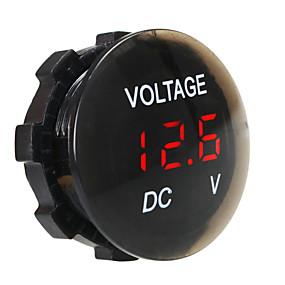 voordelige Autoladers-dc12v waterdichte en stofdichte voltmeter digitale display voor vrachtwagen auto motorfiets suv