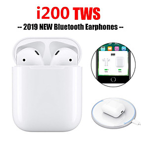 ieftine Oferte Zilnice-i200 tws original fun up pop up touch funcție de încărcare wireless cască bluetooth 5.0 6d bass
