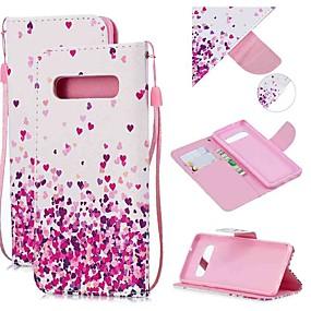 voordelige Galaxy S7 Hoesjes / covers-hoesje Voor Samsung Galaxy S9 / S9 Plus / S8 Plus Portemonnee / Kaarthouder / Schokbestendig Volledig hoesje Hart PU-nahka