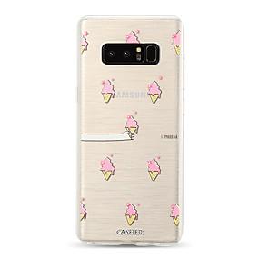 voordelige Galaxy S7 Edge Hoesjes / covers-hoesje Voor Samsung Galaxy S9 / S9 Plus / S8 Plus Stofbestendig / Ultradun / Doorzichtig Achterkant Voedsel / Cartoon TPU