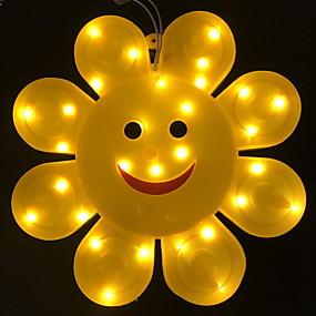 ieftine Lumini Nocturne LED-1 buc condus creativ zâmbet floarea-soarelui lumină de noapte decorațiuni acasă cald 220-240 v