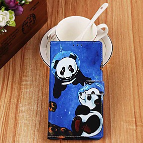 cheap Daily Deals-Case For Samsung Galaxy S9 / S9 Plus / S8 Plus Wallet / Card Holder / with Stand Full Body Cases Panda PU Leather