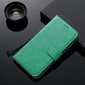 voordelige Galaxy J7 Hoesjes / covers-hoesje Voor Samsung Galaxy J7 / J5 / J3 Kaarthouder / Flip / Magnetisch Volledig hoesje Effen TPU