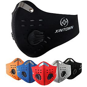 ieftine Accesorii Sport & Exterior-Mască sport Face Mask Mască semi-față cu filtru neopren Drumeție Snowboarding Schi Bicicletă / Ciclism Ajustabile Impermeabil Rezistent la Vânt 1 piesă Iarnă Clasic Modă Carbon Activat Aluminiu Negru