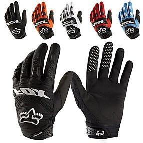 voordelige Motorhandschoenen-full-finger motorhandschoenen leer stof slijtvaste motor guantes handschoenen