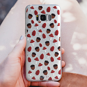 voordelige Galaxy S7 Edge Hoesjes / covers-hoesje Voor Samsung Galaxy S8 Plus / S8 / S7 edge Stofbestendig / Ultradun / Doorzichtig Achterkant Cartoon TPU