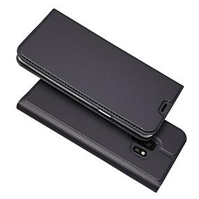 voordelige Galaxy S7 Hoesjes / covers-hoesje Voor Samsung Galaxy S9 / S9 Plus / S8 Plus Kaarthouder / Magnetisch / Auto Slapen / Ontwaken Volledig hoesje Effen PU-nahka / TPU