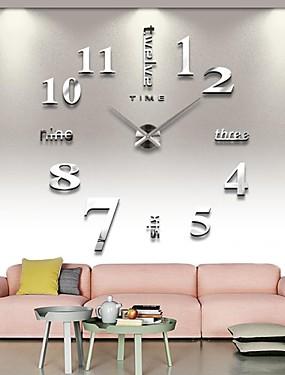 billige Hjem & Køkken-frameless store diy væg ur, moderne 3d væg ur med spejl tal klistermærker til hjemmekontor dekorationer gave