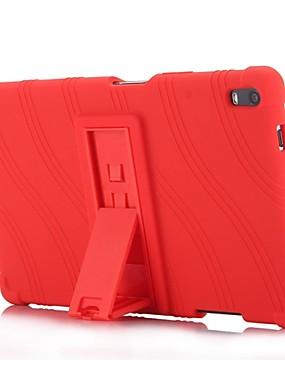 رخيصةأون اكسسوارات تابليت-غطاء من أجل Lenovo Tab 4 8 Plus مع حامل غطاء خلفي لون سادة / مخطط / تصميم ناعم سيليكون إلى Lenovo Tab 4 8 Plus