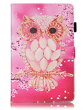 cheap Samsung Tab Series Cases / Covers-Case For Samsung Galaxy Tab A 10.1 (2016) Wallet / Card Holder / with Stand Full Body Cases Owl Hard PU Leather for Tab A 10.1 (2016)