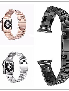 levne Prémiové značky-Watch kapela pro Apple Watch Series 4/3/2/1 Apple Butterfly Buckle Nerez Poutko na zápěstí