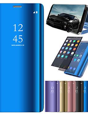 ieftine Carcase Mobil-Maska Pentru Huawei P20 / P20 lite Cu Stand / Placare / Oglindă Carcasă Telefon Mată Greu PU piele pentru Huawei P20 / Huawei P20 Pro / Huawei P20 lite / P10 Lite