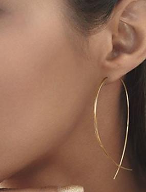 رخيصةأون $0.99 مجوهرات مقلدة-نسائي أقراط الزر - سيدات أوروبي أسلوب بسيط موضة مجوهرات أسود / فضي / ذهبي من أجل مناسب للحفلات مناسب للبس اليومي فضفاض