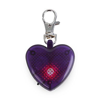 Cat / Dog Tag LED Lights / Strobe/Flashing Purple Plastic