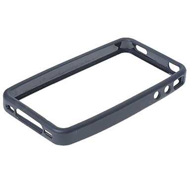 Protective PVC Shell Case + Screen Guards/Cleaning Clothes/Stylus for iPhone 4 (Black)