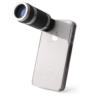 Lente Telescópico de 6X + Carcasa Con Sujetador para el iPhone 4/4S