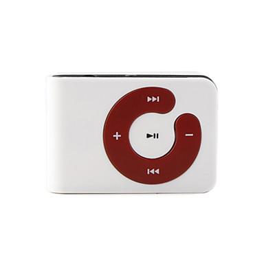 MP3 Player mit Micro SD & TF Karten Leser und Clip (Weiß)