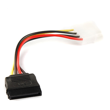 4P IDE to 15P Serial ATA SATA Power Adapter Cable 0.15M