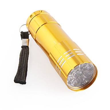 FX-709B Mini 1-Mode 9-LED Flashlight (3xAAA, Yellow)