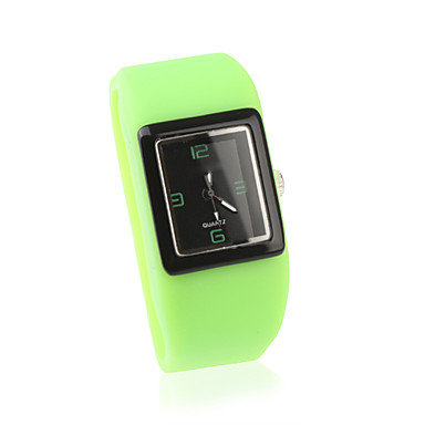 les femmes de mode veille watchs poignet en silicone - vert