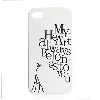 Premium Unique Hard Protective Back Case for iPhone 4 - My Heart