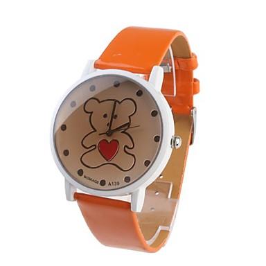Women's Analog Quartz Wrist Watches (Orange)