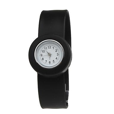 bambini impermeabile al quarzo cinturino dell'orologio nastro con banda nera