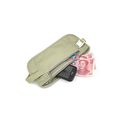 Covert Anti-lost Waist Pack for Passport and Credentials (Beige)