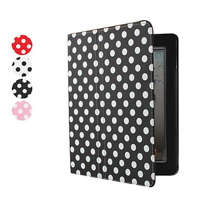 PU Ledertasche mit Ständer für Apple iPad 2 mit weißen Punkten