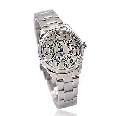 roestvrij stalen band mechanisch horloge voor vrouwen
