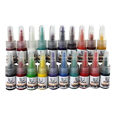 20 dövme rengi dövme mürekkep seti 20 * 5 ml