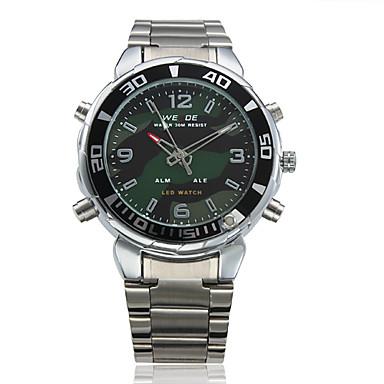 Analog-Digital-Dual-Display-schwarzem Zifferblatt Armbanduhr