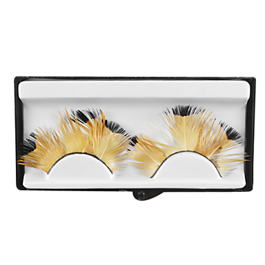 Coffee color Feathery Lashes for Party and Salon Studio Makeup