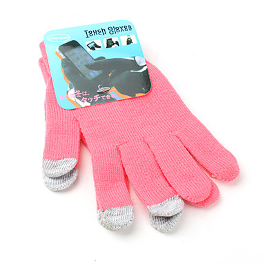 guantes de pantalla táctil universales de banda para el iPhone y IPAD (rosa)