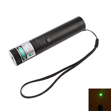 mini grön laserpekare med batteri och laddare (5mW, 532nm, svart)