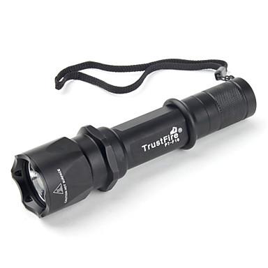 trustfire f16 3 modes SSC P7 LED Flashlight (900LM, 1x18650, noir)