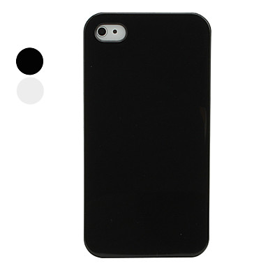 Protective Solid Color Crystal Shell Back Case for iPhone 4 / 4S