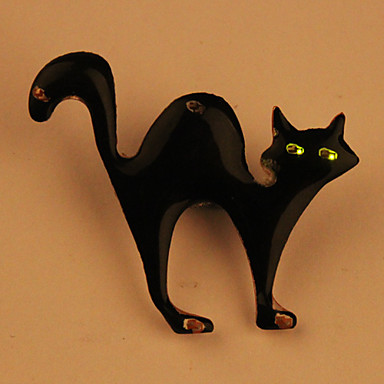 Cartoon LED Flashing Magnetic Badge (Surprising Cat)