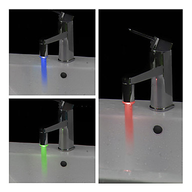 zylindrischen Wasser angetrieben Bad LED Wasserhahn Licht (aus Kunststoff, verchromt)