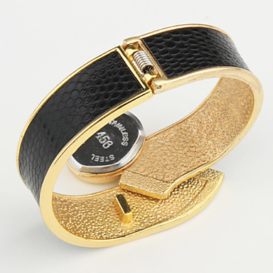 Kadın's Moda Saat Bilek Saati Elbise Saat Bilezik Saat Quartz Alaşım Bant Halhal Zarif Siyah Beyaz Mavi Kırmızı Kahverengi Pembe Mor