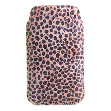 Protective Animal Spots Pattern Soft PU Leather Bag for iPhone