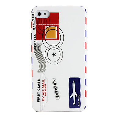 Protective Polycarbonate Case for iPhone 4 and 4S (Air Mail Pattern)