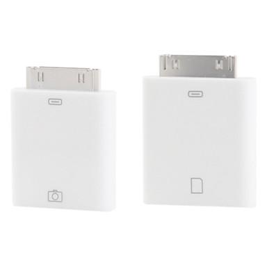 kit câmera de conexão para ipad, ipad 2 eo novo ipad (2-pack, branco)