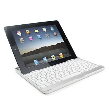 aluminium innkapslet trådløs bluetooth tastatur for iPad 2 med usb ladekabel (hvit)