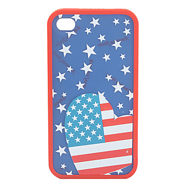Protective Polycarbonate Bumper and Cover for iPhone 4 and iPhone 4S (Star and Dots)
