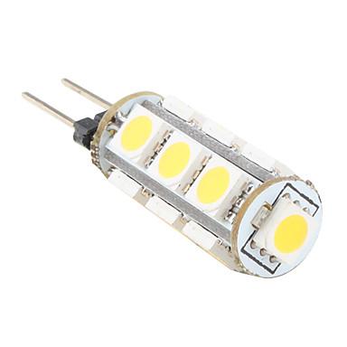 araba için g4 13x5050 smd sıcak beyaz ışık led ampul (12v)