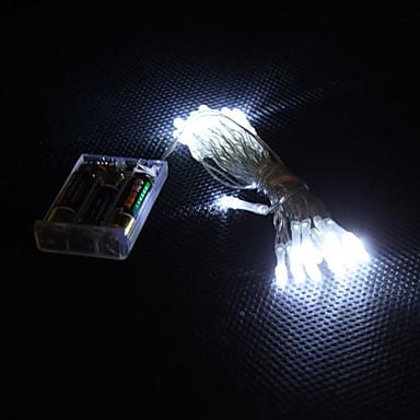3m 30 ledli beyaz ışık 2 modlu led dize Peri lambası için (3xaa)