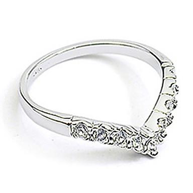 Mulheres Anel de banda - Cristal, Imitações de Diamante, Liga Coração, Amor Pedras dos signos 9 / 8½ / 9½ Prata / Dourado Para