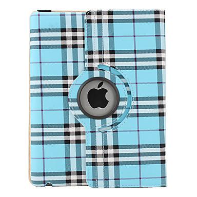 Net stil  PU læder cover med holder til den nye iPad og iPad 2 (Blå)