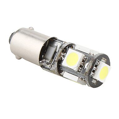 BA9S 1w 5x5050 SMD wit licht led lamp voor auto remlicht (12v)